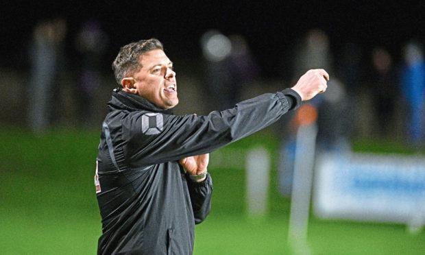 Buckie Thistle boss Graeme Stewart. Picture by Jason Hedges.