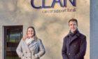 Fiona Fernie, from CLAN, and Allan McEwan of City Fibre.