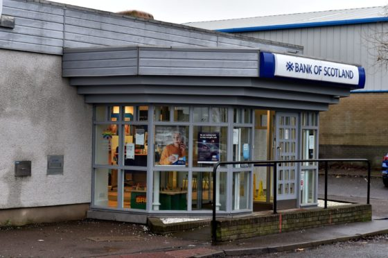 The Bank of Scotland branch in Tullos will be closing