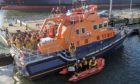 RNLI crew aboard the Bon Accord.