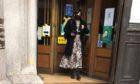 Davina Marshall leaving court.