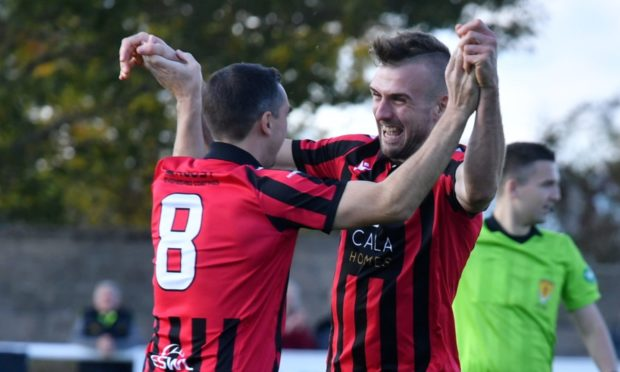 Mark Souter, right, and Inverurie Locos team-mate Neil McLean.