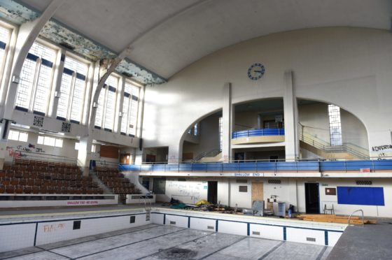 The main pool hall at Bon Accord Baths. Picture by Paul Glendell