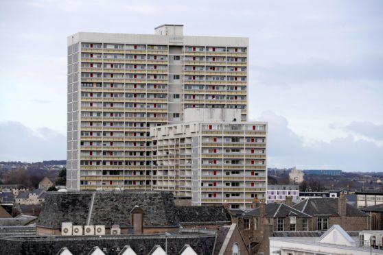 Aberdeen high-rises Virginia Court and Marischal Court