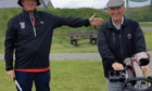 Fraserburgh Golf Club captain Seamus Logan, left, with president Bill Maitland.