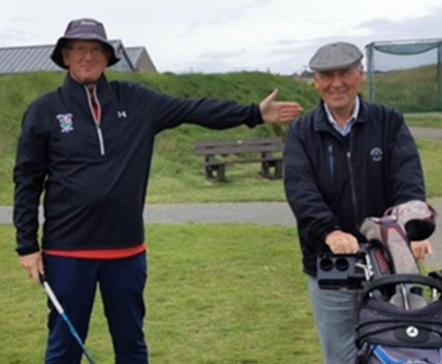 Fraserburgh Golf Club captain Seamus Logan, left, with president Bill Maitland.