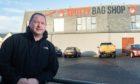 Des Cheyne, owner of Spotty Bag Shop in Banff.