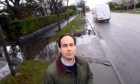 Martin Greig says pavements on Anderson Drive are unsafe.