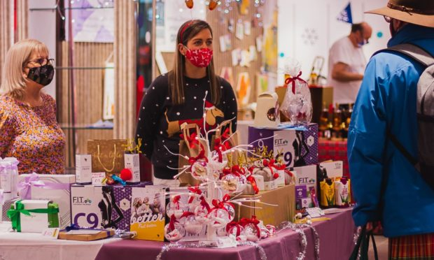 More than 5,500 people visited Aberdeen's indoor Christmas market in its first weekend.