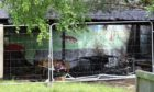 The aftermath at Monymusk School after an outbuilding was set on fire earlier this year.