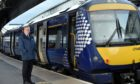 Scotrail operations director David Simpson at the launch of the Christmas train timetable at Aberdeen Railway Station