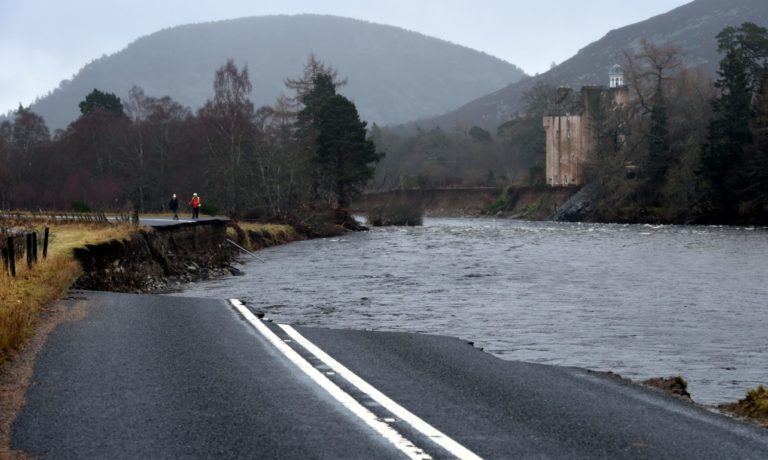 Severe flooding in Ballater in December 2015.