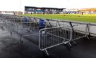 Peterhead have set up barriers to keep fans spread out when they are allowed to return to Balmoor. Picture by Kenny Elrick