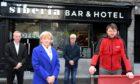 Adrian Watson, Jenny Laing, Tony Cochrane of Club Tropicana and Stuart McPhee of Siberia at the launch of 4Entry
