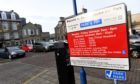 Aberdeenshire Council will reintroduce parking charges on January 4.
