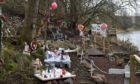 A festive trail has been created at the Muggiemoss riverside.