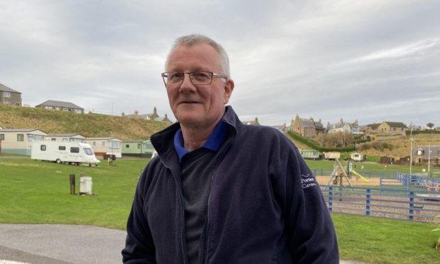 Ian Tillett, manager of Portsoy Links Caravan Park.