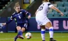 Kim Little in action for Scotland.