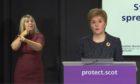 First Minister Nicola Sturgeon at the daily coronavirus briefing.
