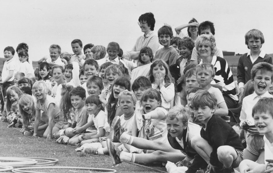1988: Sports day for the pupils of Aberdeen's Victoria Road Primary School provided the thrill of victory for some and lots of fun for all.