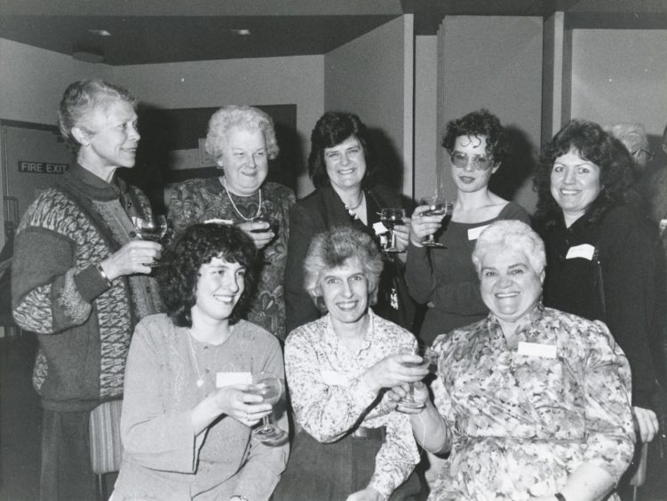 1992: Volunteers at the Deeside Family Centre and Family Support Project. Back, from left: Mrs Sheena Ritchie, Mrs Ruth Mitchell, Mrs Anne Forbes and Mrs Kath Robertson. Front: Mrs Beverley Angus, Mrs Carole Phelan and Mrs Pearl Niddrie.