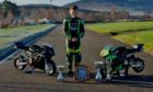 Newmachar Primary School pupil Darren Cox is a two-time Scottish minimoto champion.