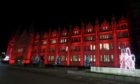 Marischal College was lit up in red to mark World AIDS Day.
