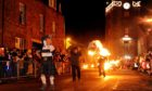There will be no mass celebrations, like the fireballs at Stonehaven, this year.