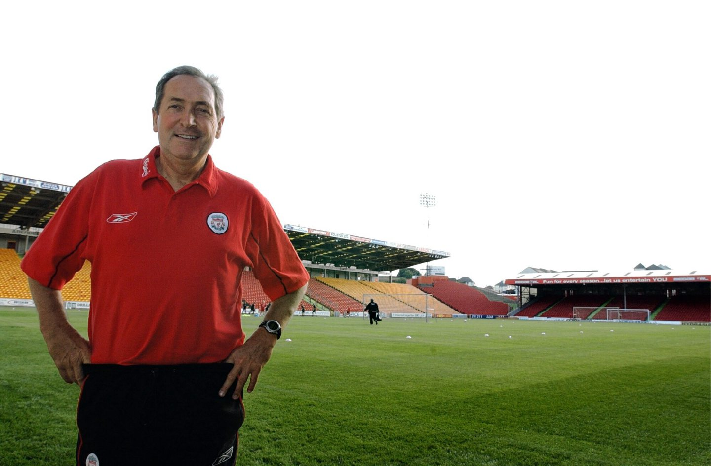 Gerard Houllier on the Pittodrie pitch.