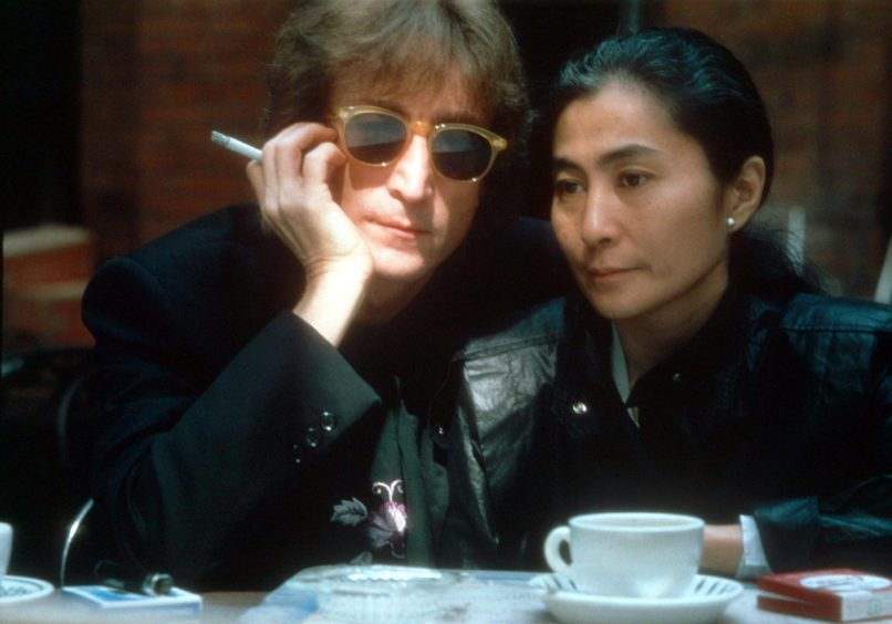 John and Yoko pictured shortly before his death in 1980 in New York.