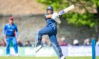 Scotland captain Kyle Coetzer in action