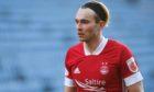 Aberdeen attacker Ryan Hedges in action