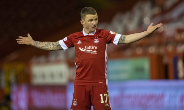 Jonny Hayes wants Aberdeen to be looking up the Premiership table.