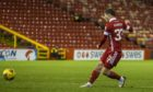 Matty Kennedy scores for Aberdeen against Rangers at Pittodrie