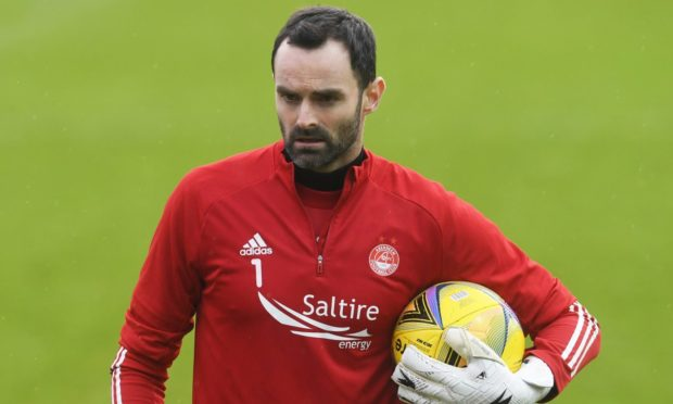 Aberdeen goalkeeper Joe Lewis during the 4-1 loss at Ross County.