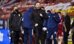 Derek McInnes saw Aberdeen defeat Motherwell