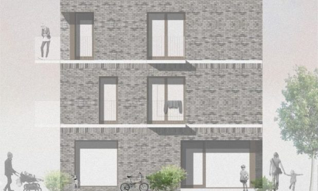 Artists impressions of one of the buildings at the Craighill site.