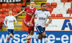 Ryan Hedges clips Alfredo Morelos, which saw the Aberdeen played dismissed.