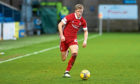 Aberdeen's Ross McCrorie in action against Ross County in a 4-1 defeat.