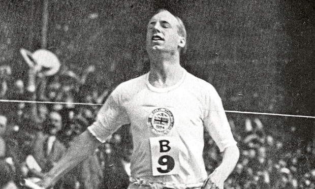 Eric Liddell competing at the 1924 Paris Olympics.