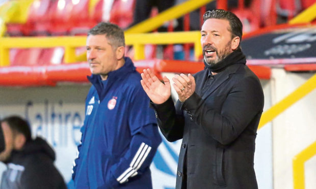 Derek McInnes, right, and assistant manager Tony Docherty