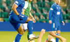 Rangers Alfredo Morelos (left) battles with Hibernian's Ryan Porteous (right) during the Ladbrokes Scottish Premiership match at Easter Road