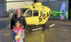 SCAA pilot Pete and his daughter, Arabella.