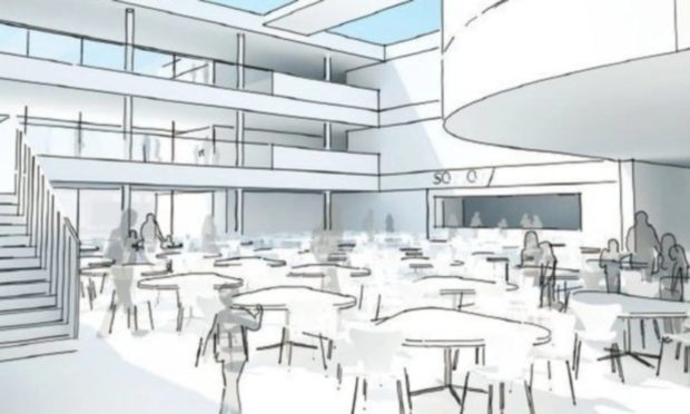 An artists impression of what the new Peterhead Community Campus might look like.