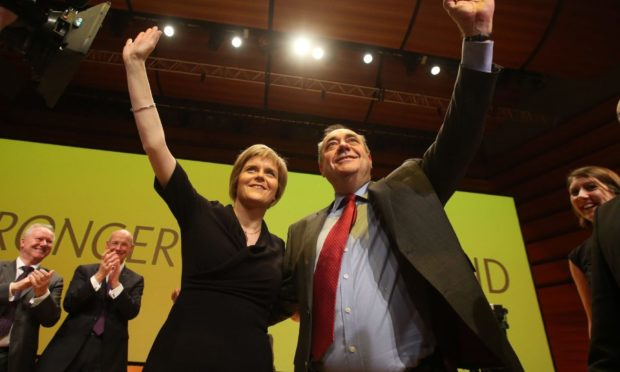 Nicola Sturgeon and Alex Salmond before they fell out.