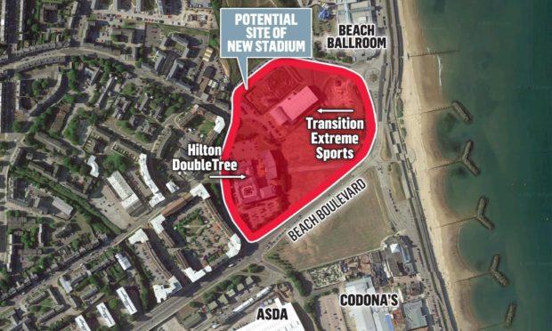 Community council backs new Aberdeen beach stadium scheme