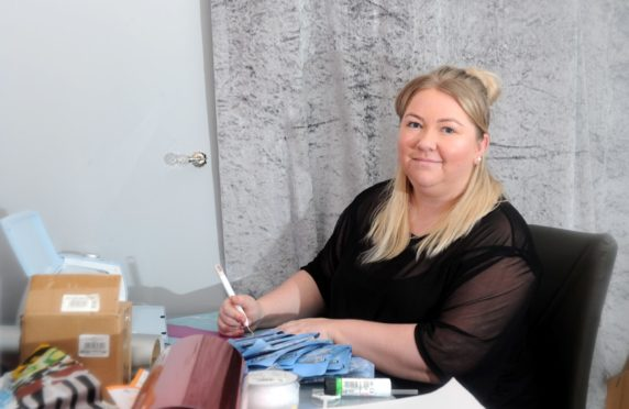 Julie Donald launched her business Aberdeen Balloon Lady in June