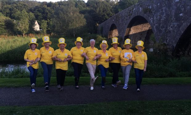 The Ellon and District fundraising group. Taken prior to Covid-19.
