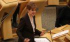 Nicola Sturgeon announcing new Covid-19 measures
