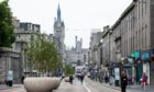 Union Street, Aberdeen, during the local lockdown in August.